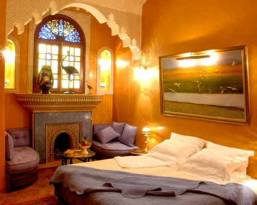 Moroccan bedroom decoration ideas yellow garish