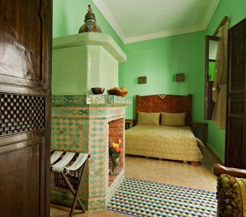 oriental bedroom designs green
