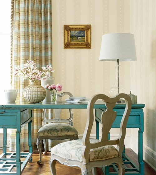 sea ​​blue ancient antique rustic french interior ideas in french country style