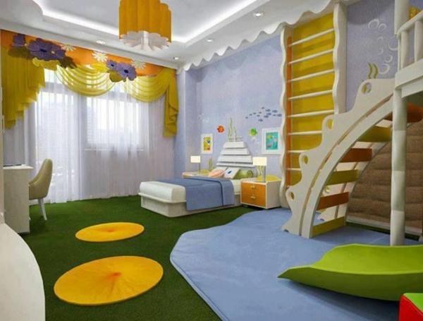 with yellow accents nursery fashion stairs