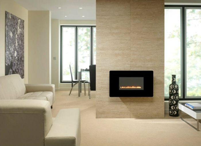 modern fireplaces wall attached living room living room