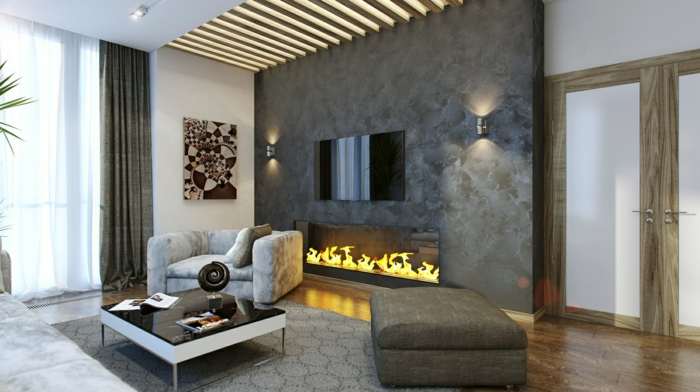 modern fireplaces living room gray carpet chic furniture cool ceiling