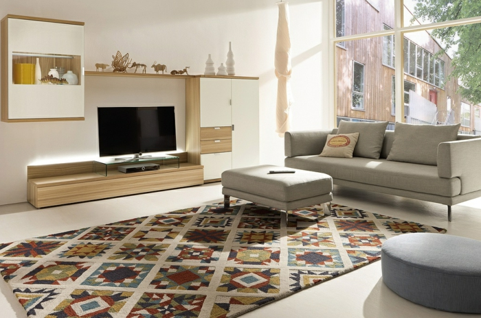 modern living room set up colored carpet chic furniture living room wall