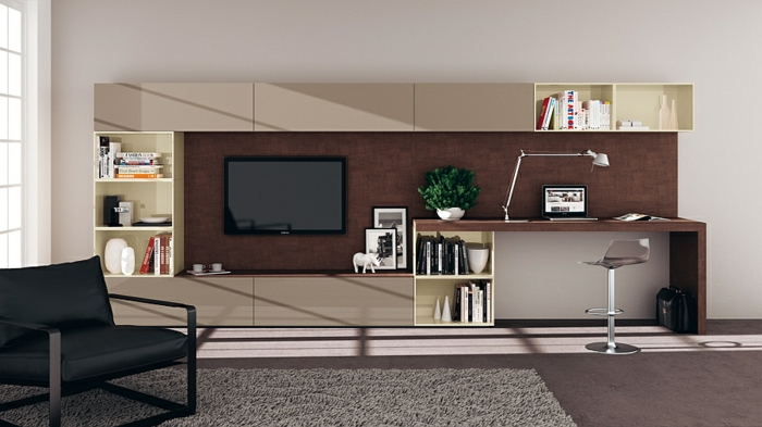 moderna sala de estar muebles ideas tv unidad de pared estilo minimalista