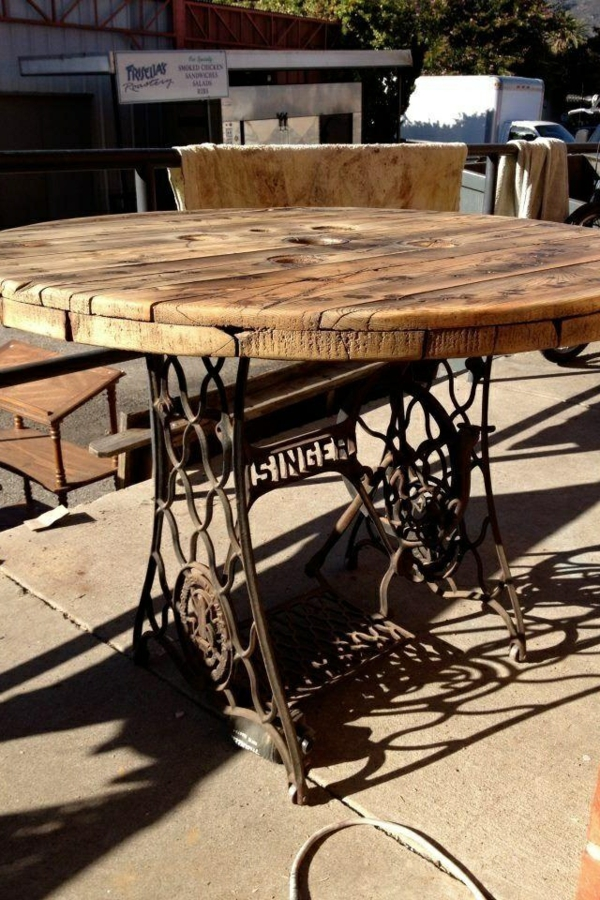 Convert sewing machine into a dining table