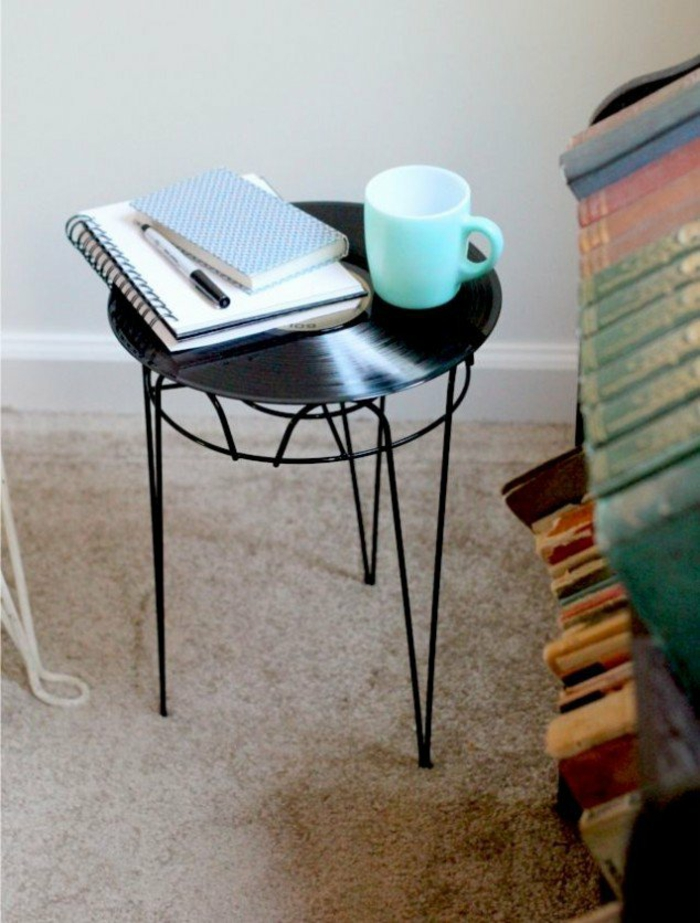 bedside table itself build records craft ideas diy projects