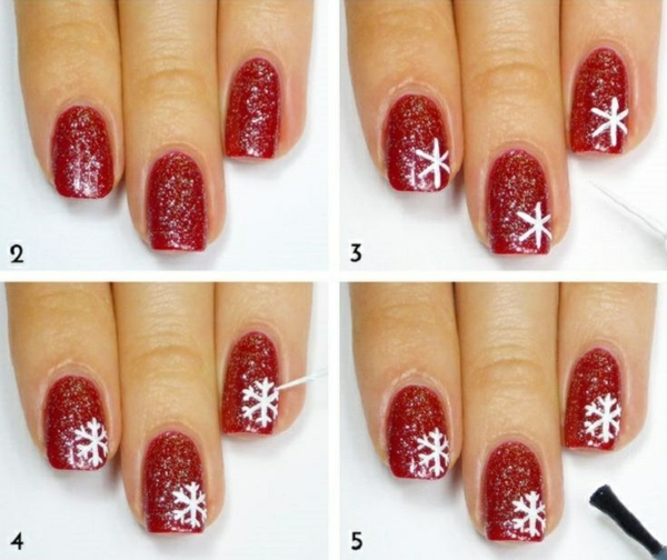 nail design picture gallery nail art christmas red