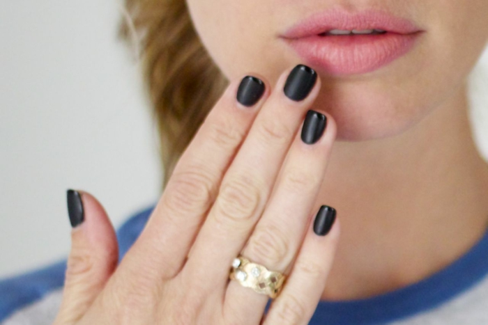 nail design black french manicure lifestyle