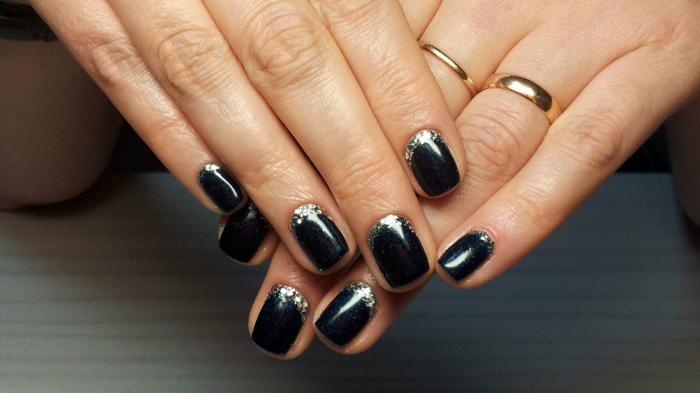 nail design shiny black lifestyle trends