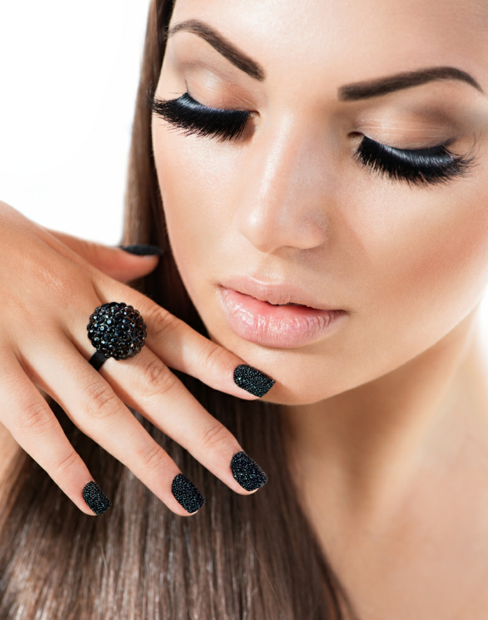 nail design black ideas eyeshadow accessories