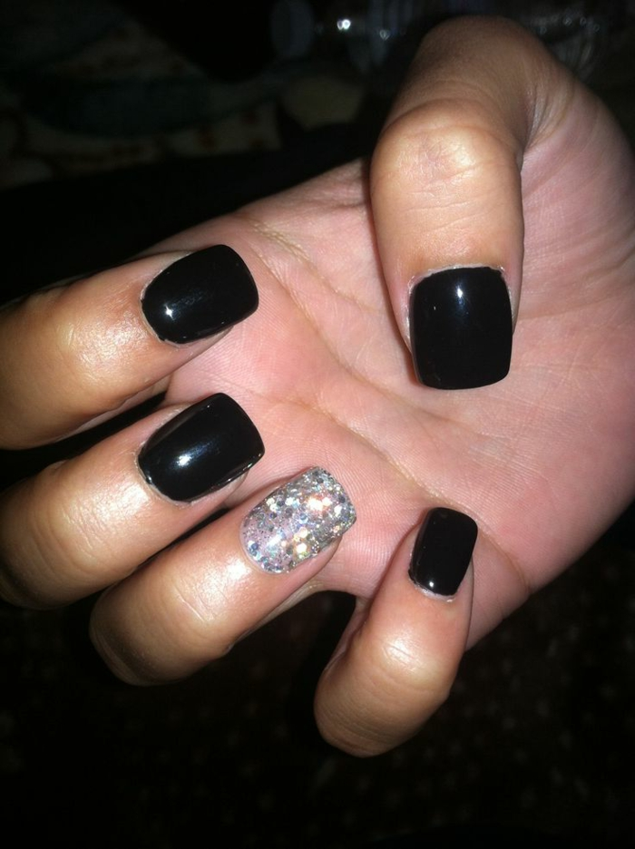 nail design black black nails ideas