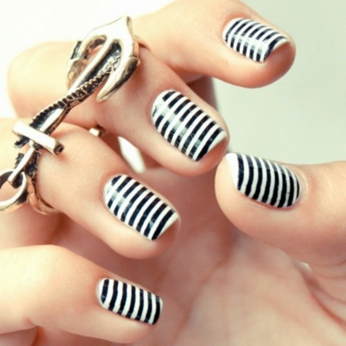 nail design black zebra pattern fresh