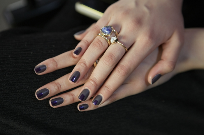 Nail Designs Nail Nails design nail art color morado oscuro esmalte de uñas matt gloss