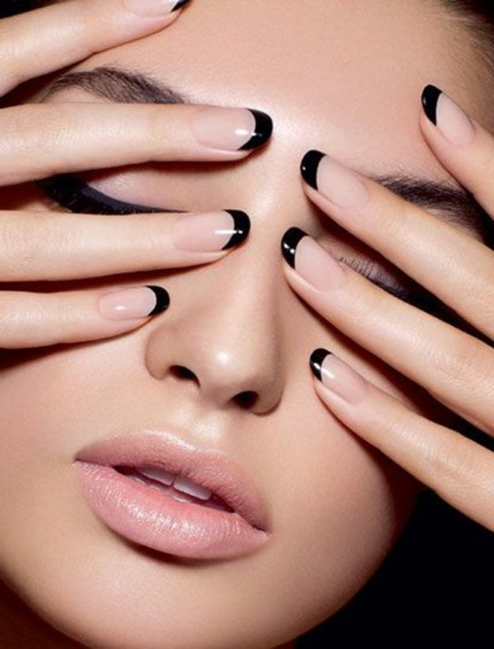 nail polish ideas black trendy lifestyle