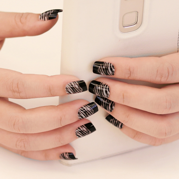 nail polish ideas black zebra especially chic