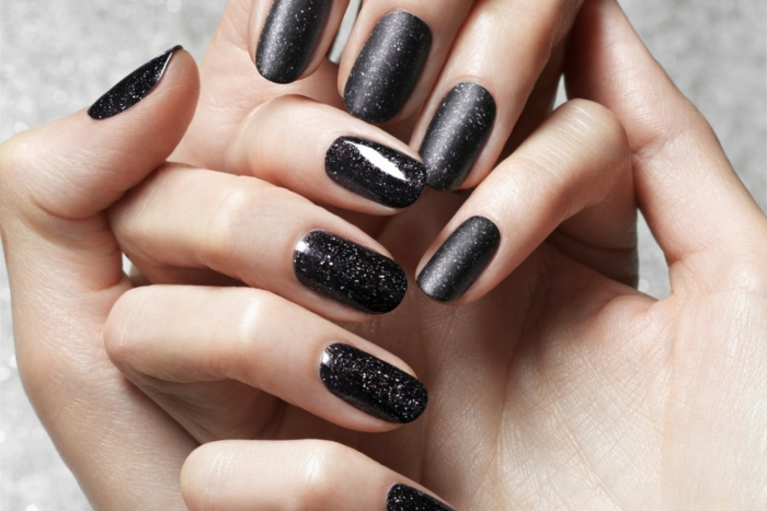 nail polish ideas black nail design elegant