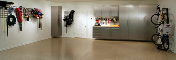 Trim in the garage practical cabinets tool bicycles