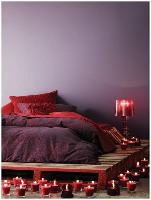 original beds very romantic on wooden pallet platform