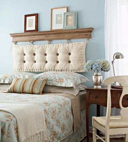 beds headboard with soft pillow