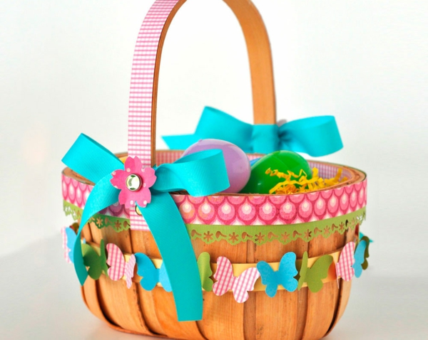 osterdeko tinker craft ideas easter easter basket decorate