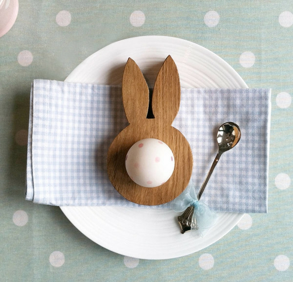 easter decoration tinker egg cup easter bunny made of wood easter egg
