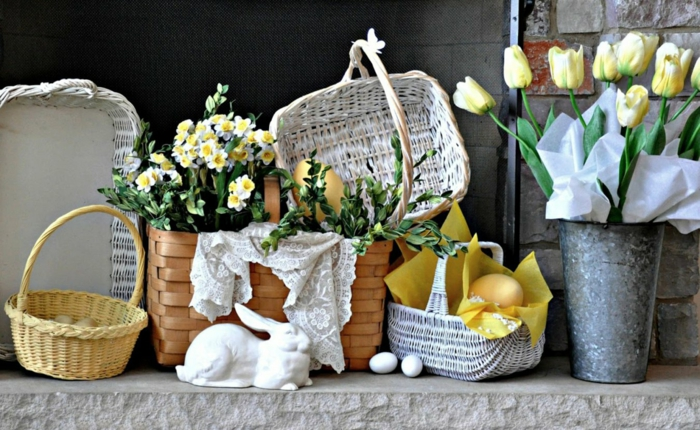 tinker ideas daffodils baskets table decoration make yourself