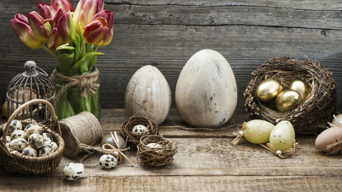 easter decoration tinker ideas easter eggs yourself make quail eggs tulips birdcage