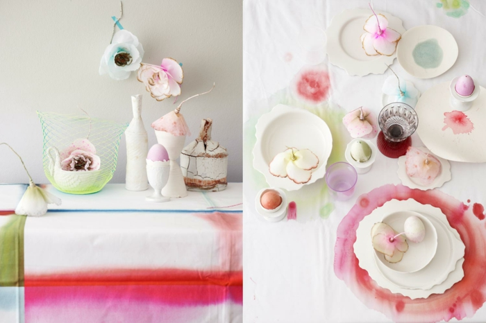 tinker ideas table decoration make yourself ombre style batik egg cup easter eggs