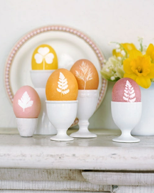easter decoration fresh festive easter eggs hare chicks yellow fresh colors