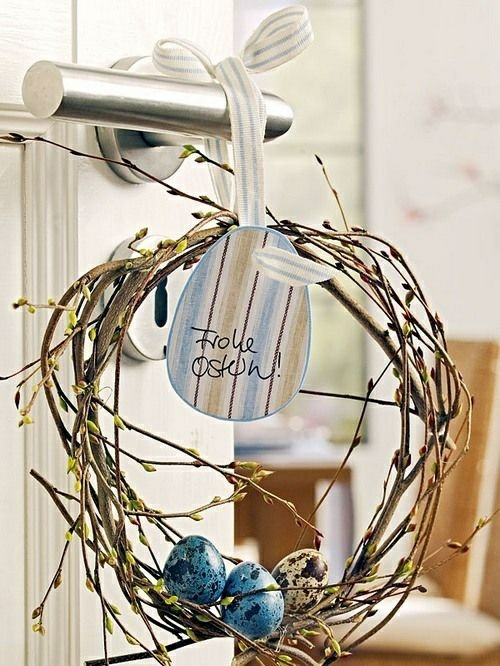easter decoration fresh festive branches wreath