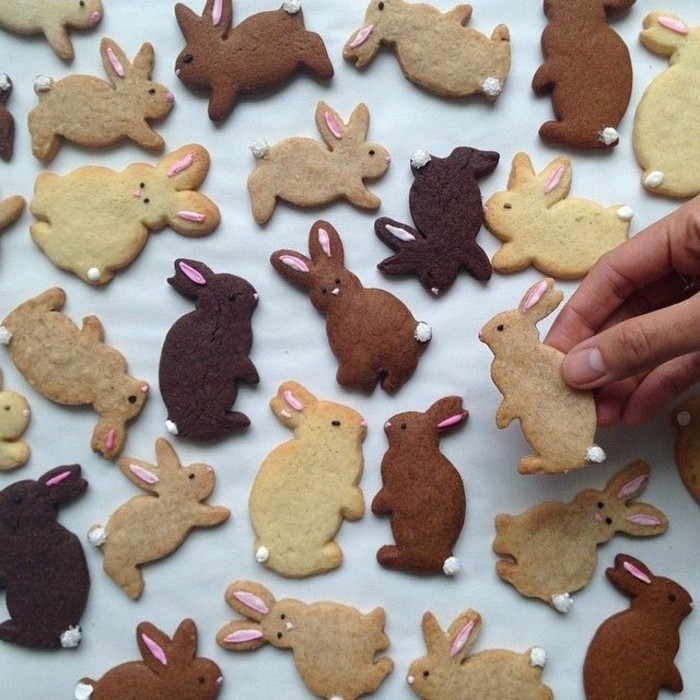 Easter cookies baking biscuits decorate easter bunnies decorate fancy