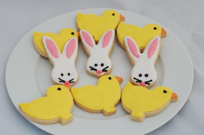 Easter biscuits baking biscuits decorate vanilla easter bunnies easter chicks