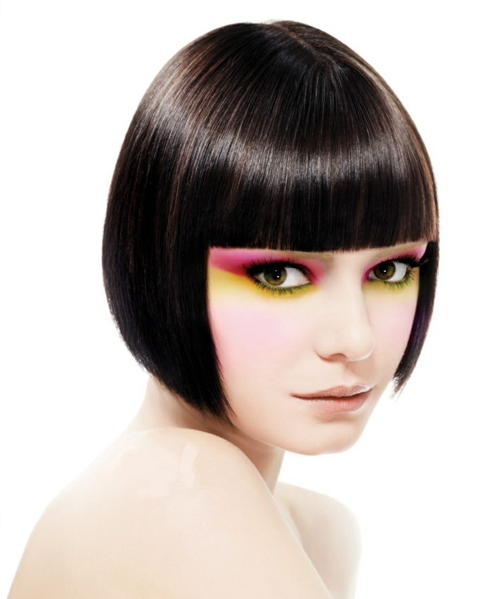 page cut with pony short bob pagen hairstyle retro style extraterrestrial