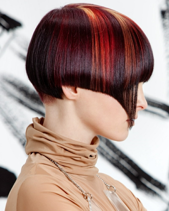 page cut with pony short bob pagen hairstyle retro style leaned