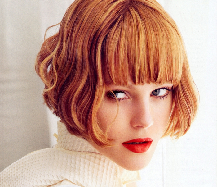 page cut with pony short bob pages hairstyle retro style rebellious