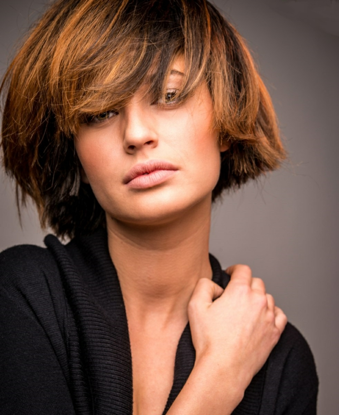 page cut with pony short bob pages hairstyle retro style sensual