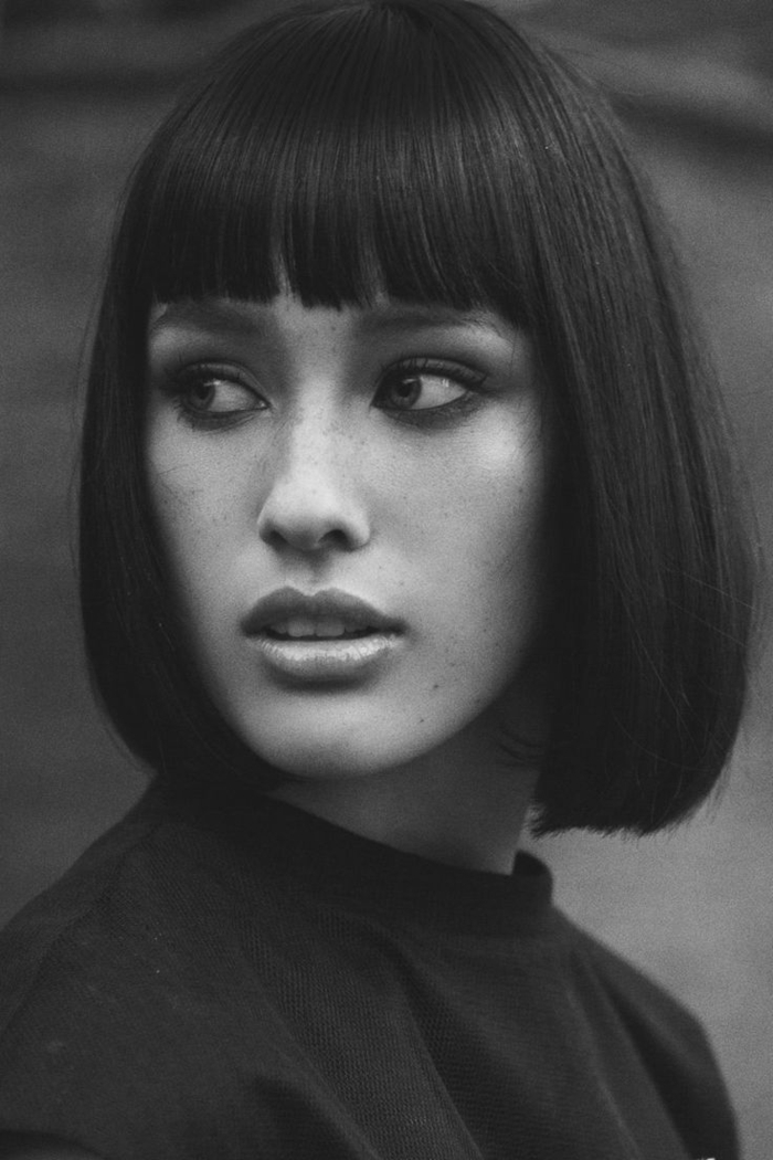 page cut with pony short bob pages hairstyle retro style beautiful