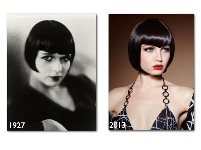 page cut with pony short bob pages hairstyle retro style