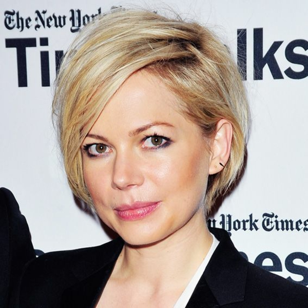 peinados de pelo corto con flequillo peinado lateral pagenkopf Michelle Williams