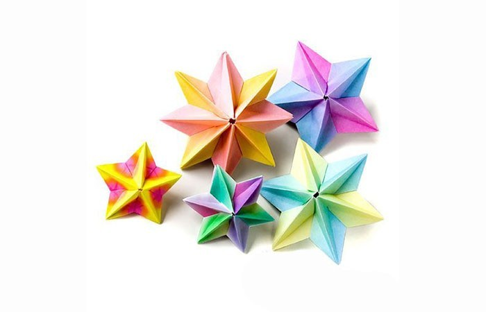 papier herrnhuter star tinker colorful