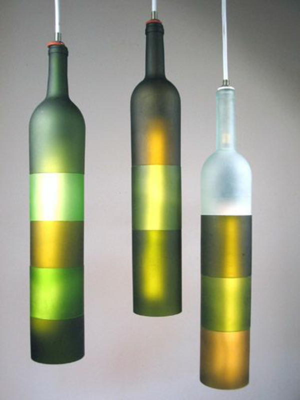 Pendant lights DIY lamp from wine bottle decoration