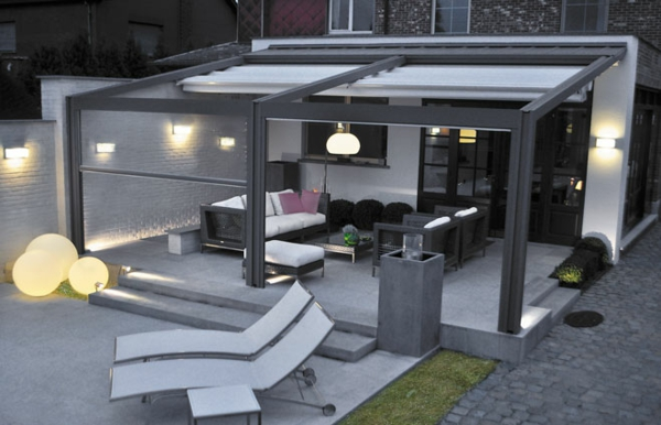 pergola metal patio roofing privacy protection conservatory