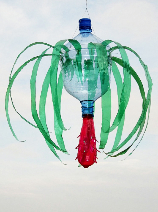 pet bottles art tropical plant