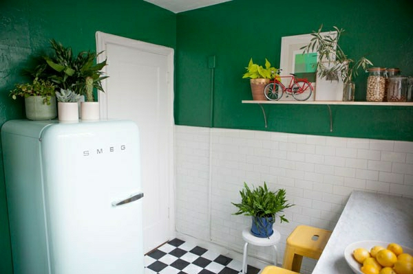 easy-care Beautiful houseplants pintura de pared verde
