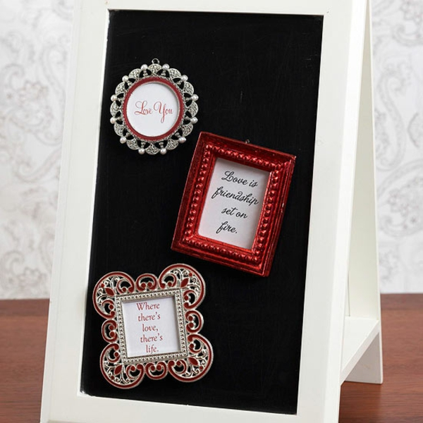 valentines day gift picture frame background black