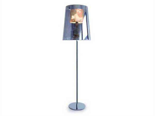 polyester floor lamp mirror unilateral light shade shade