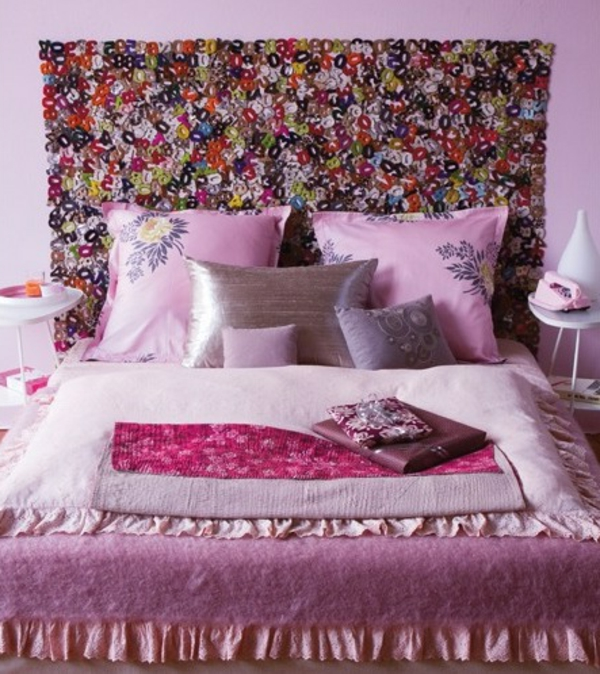 gorgeous purple colors floral design bed bedroom headboard