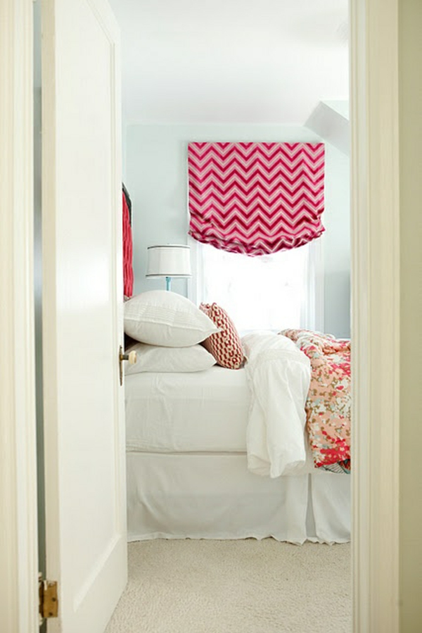 Roman blind sewing instruction bedroom pink