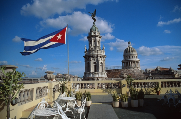 Travel to Cuba restaurant terrace