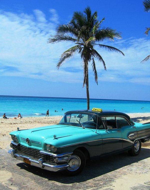 travel to cuba vacation oldtimer palm